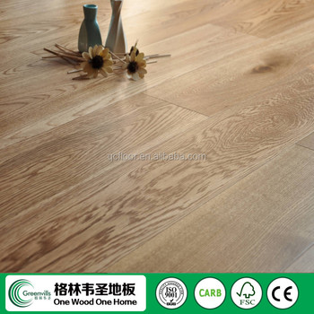 Natural Light Color Oak Smooth Brushed Engineered Wood Flooring