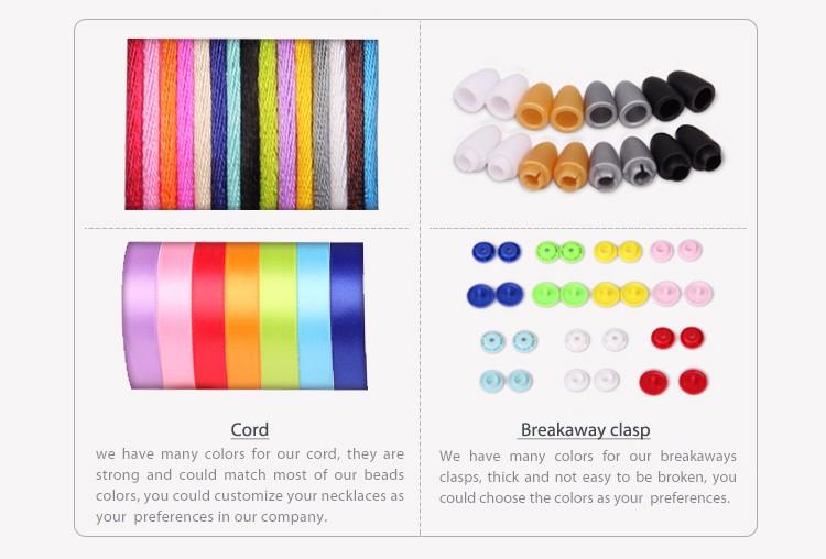 Nouveaux Articles De Mode Belle Porte-clés Coloré Sans Bpa Silicone Dentition Perles de Lettre