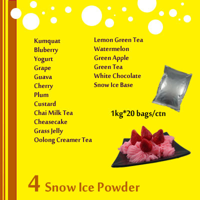 Vanilla snow ice powder