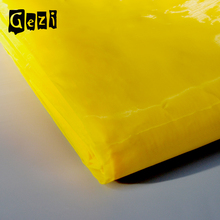 Gezi 77mesh -195 mesh white/yellow t-shirt polyester silk screen printing mesh fabric