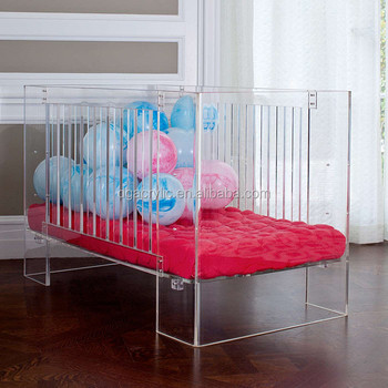 non-toxic modern clear plastic perspex lucite acrylic cot bed for
