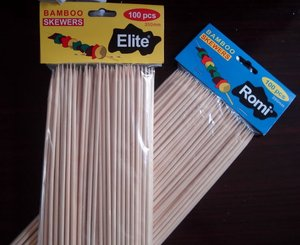 mao bamboo skewer for BBQ with OPP packing