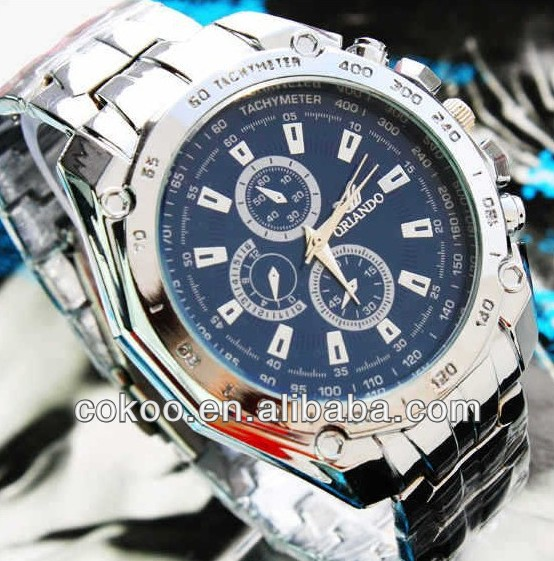 2013 new hot selling Men's Watches High Quality Cheap Price Men Fashion Quartz Watches Men Full Steel Blue Watch