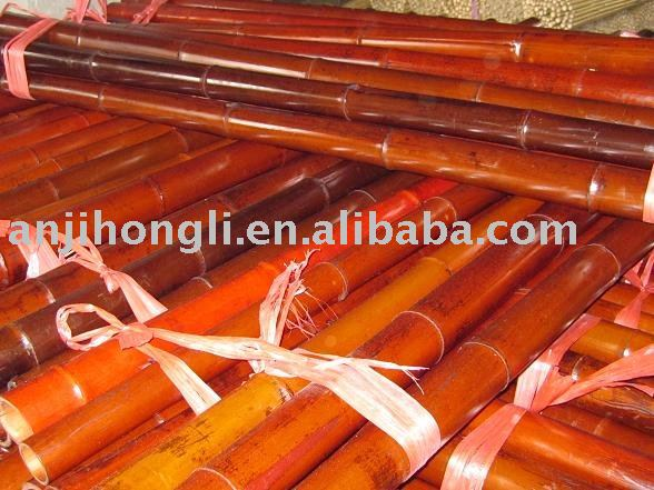 Colord bamboo poles/red canes