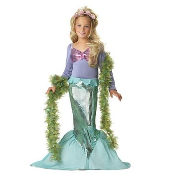 Comfortable 5 9 Years Old Girls Mermaid Costume With Sequin Ds04