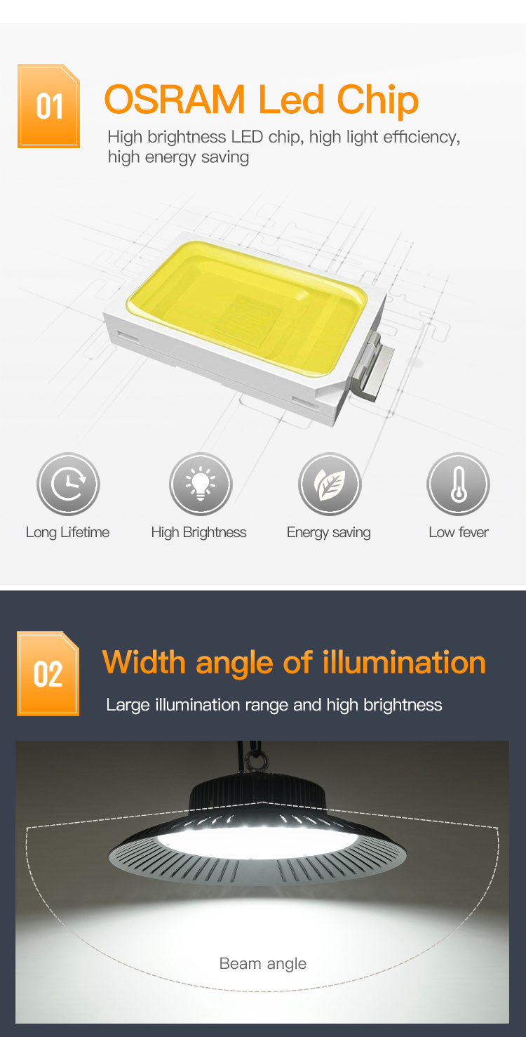 Wholesale products warehouse industrial 50w 100w 150w 200w outdoor led highbay light