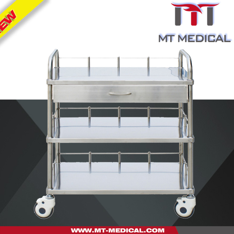 ABCDF MT-2 3 Layers S.S. Treatment Trolley With Drawer Used In Hospital