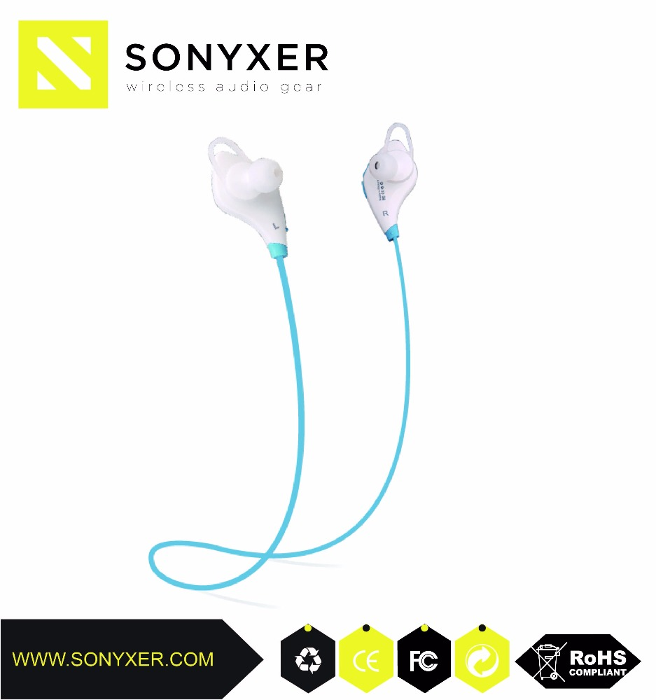 wireless blue tooth headset led light flat cable earphone with mic