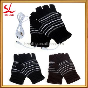 8c65da780d8afe Erhitzt Winterhandschuhe Handwärmer Wolle Fingerlose Handschuhe Usb ...