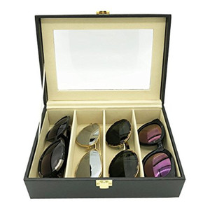 4 slot customized wholesale leather eyewear sunglasses eyeglasses packaging box