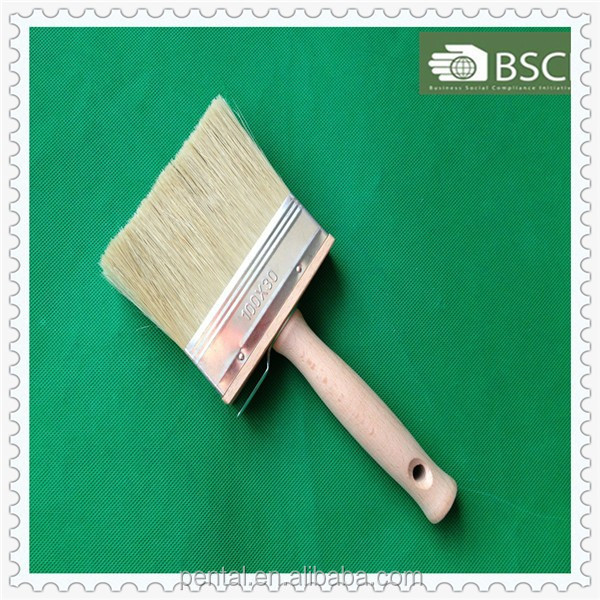 SHXB-0021 Wooden Handle PET Hollow Filament and White Bristle Ceiling Brush