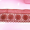 factory price red african fabric 7cm lace trim