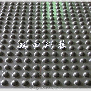 black plastic hdpe hips drainage sheet dimple drain cell board