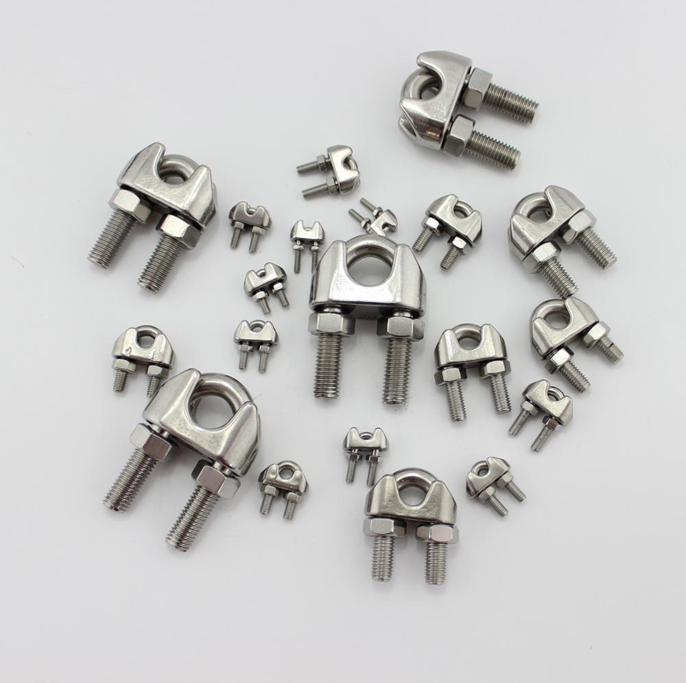 Stainless Steel Din741 Wire Rope Clips Ringging Hardware Cable Grips ...