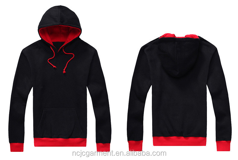 Custom Cool Red Black Hoodies Cheap Plain Hoodies For Men And ...