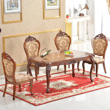 Antique Dining Table Solid Wood Royal Design Dining Table Set ...