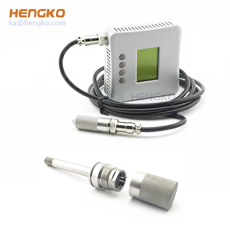 weatherproof sintered stainless steel metal mesh encasing protection analog temperature humidity sensor probe