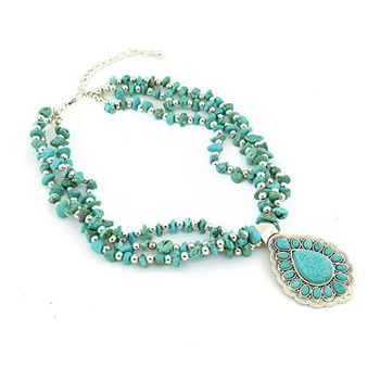 Emphatical turquoise gemstone necklace  silver jewelry indian silver jewellery wholesaler