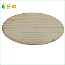 Unfinished Oval Wood Base Wooden Plaque Stand Blank