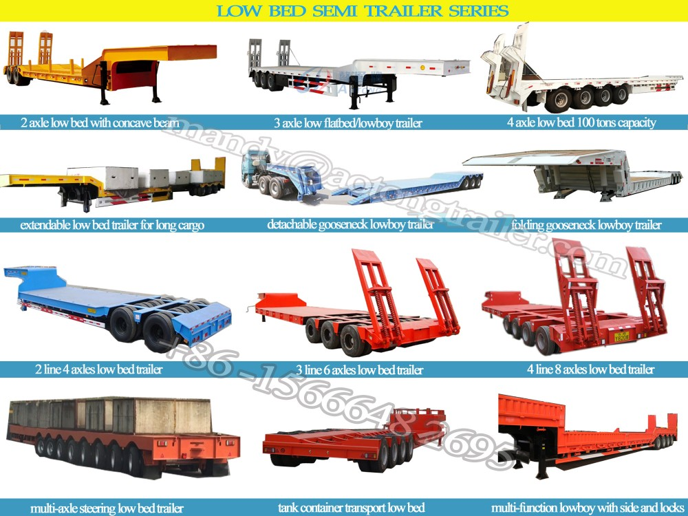3 Axle 40 Ton Widely Used Low Bed Trailer For Sale In