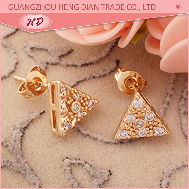Simple design daily wear flower shaped diamond stud earrings women ...