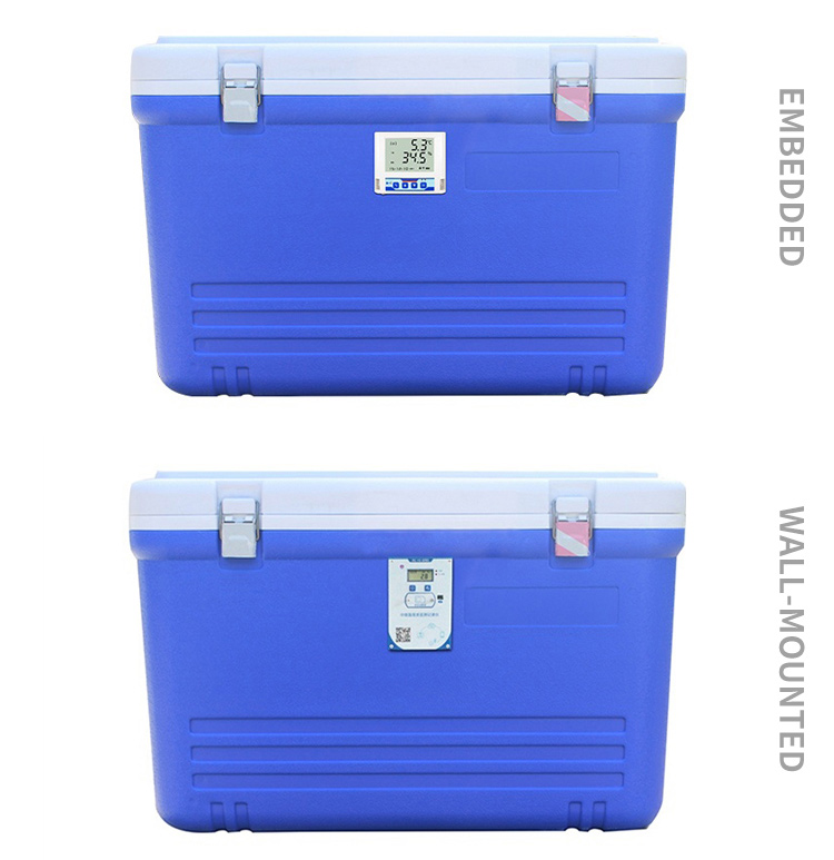 Mass storage cooler box thermometer