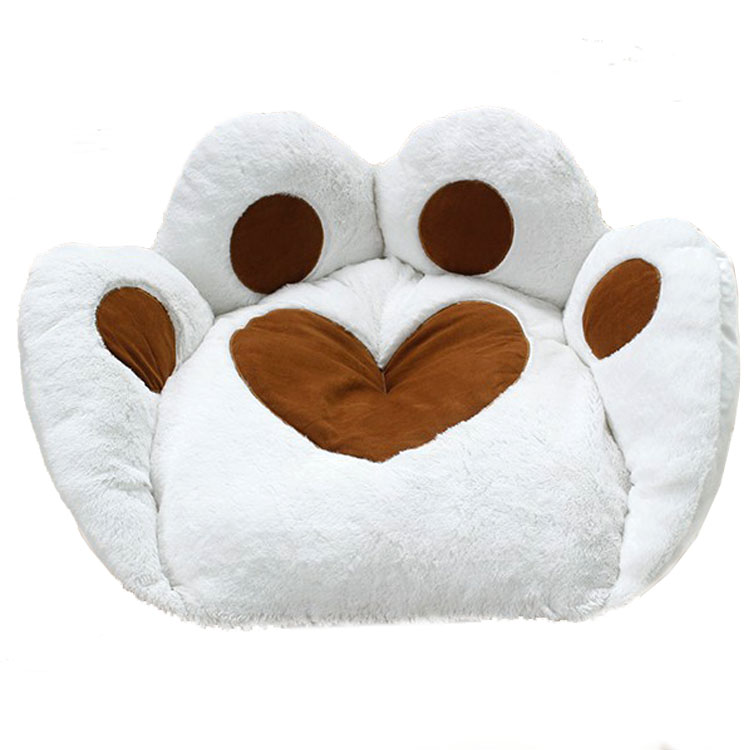 White paw shaped pet accessories yorkies dog beds