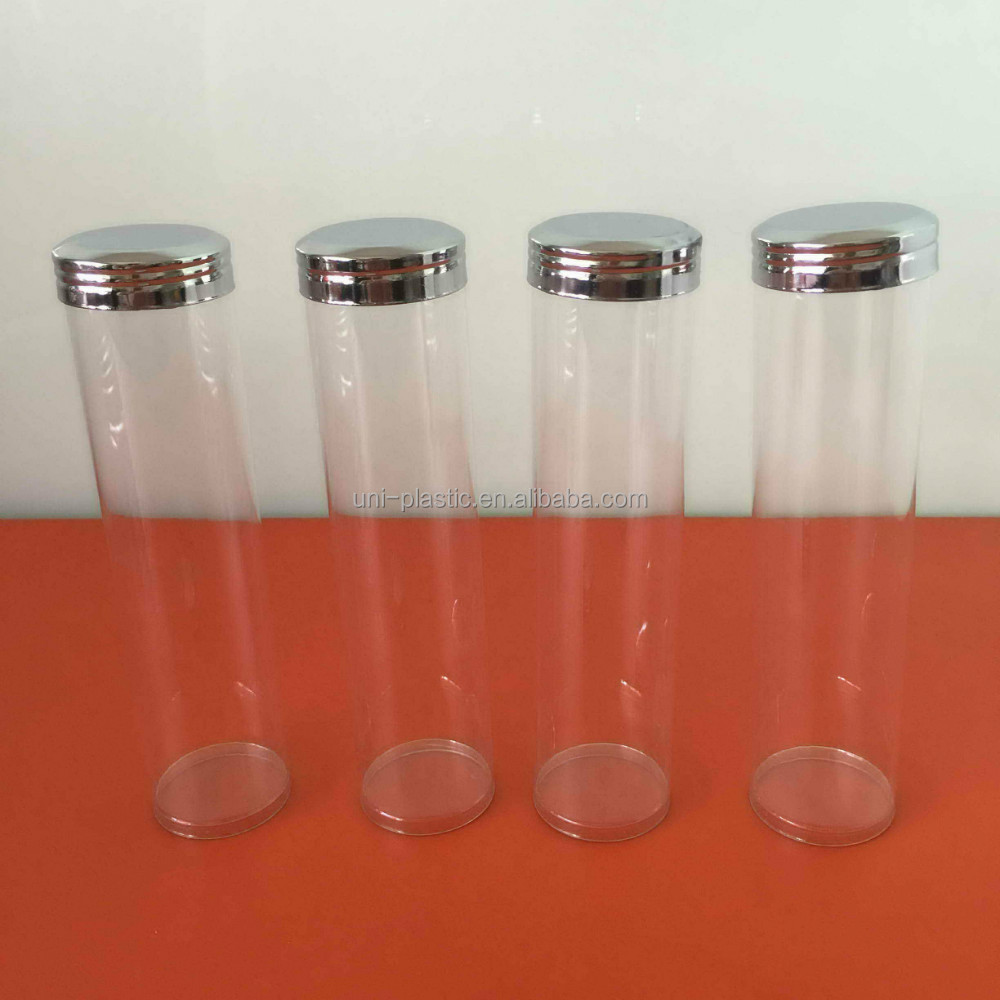 China supplier plastic clear candy <strong>tube</strong> with screw cap