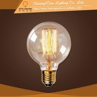 Vintage style decoration of house interior antique brass pendant light,glass ball pendant lights