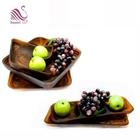 Customized Home Restaurant or Buffet and Salad plates Resin Brown Swirl Dinnerware Cold Food and Fruit Plates