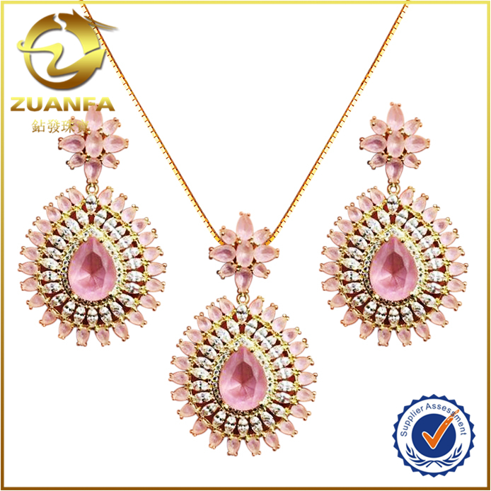 wholesale new release drop earrings necklace brincos collar wedding jewelry sets