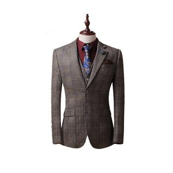 bd7135241758 Горячая Распродажа 2019 турецкий костюм бренды новый стиль Блейзер шт. 3  предмета пальто брюки мужской