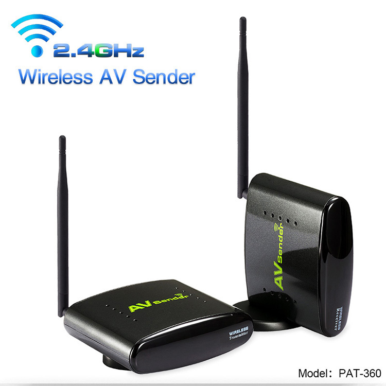 2.4GHz Wireless AV Transmitter Receiver , TV Video Transfer with IR Remote , TV Satellite Receiver