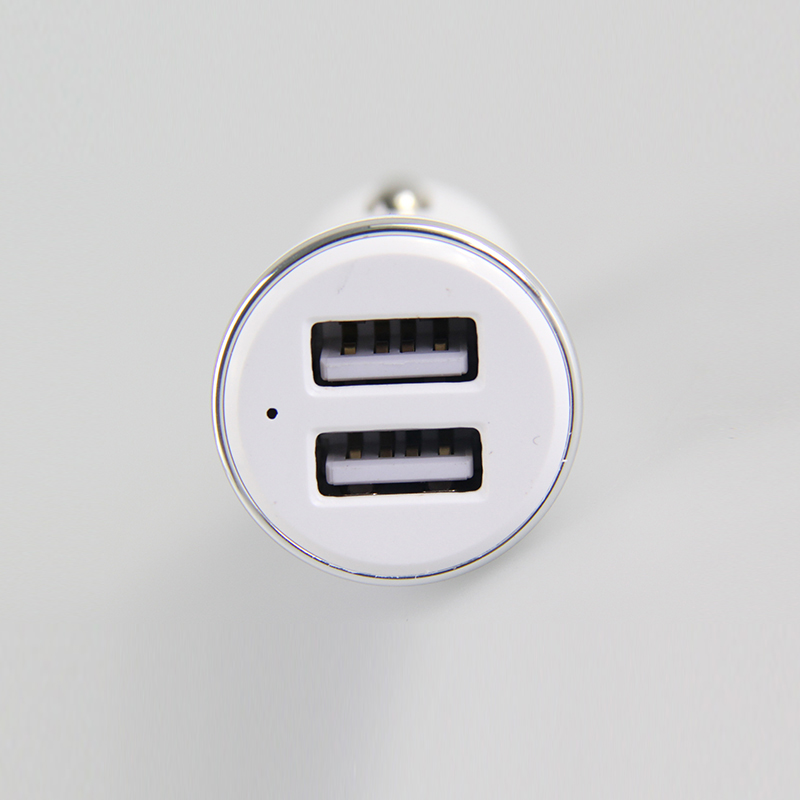 17.5v Micro Usb C Led Display Double Port 3 Way Car Charger