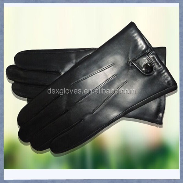 Custom Gentlemen Winter Leather Gloves with fleece lining
