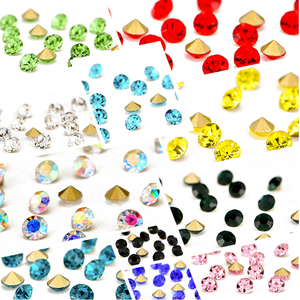 Yiwu factory new design glass stones point back rhinestone color rhinestone