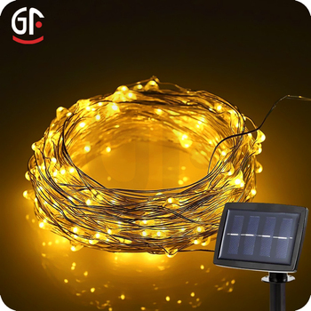 Festival Event Decorative Solar Copper Wire Led String Lights ...