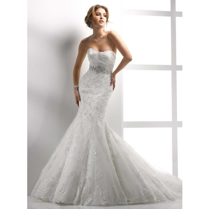 Free Shipping 2015 Romantic White Vintage Mermaid Wedding Dress Sexy Floor Length Plus Size Bridal Wedding Gown Robe De Mariage