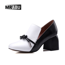 New style Pumps Fashion Women Shoes knot Pointed Toe Dress High Heels Slip-On Spring Autumn office