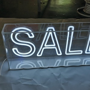 Factory Advertising custom led neon box signs for bar shop store sale