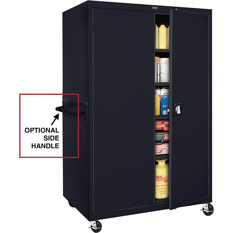 Sandusky Lee TA4R462472-09 Transport Series Mobile Storage Cabinet, Black