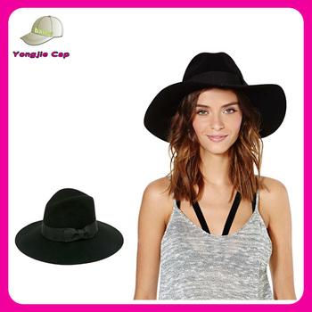 ea8cb51c Floppy Panama Hat With Ribbon Trim And Wide Brim - Buy Floppy ...