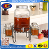 Glass Beverage Dispenser mason jar set glass water bottle with iron stand