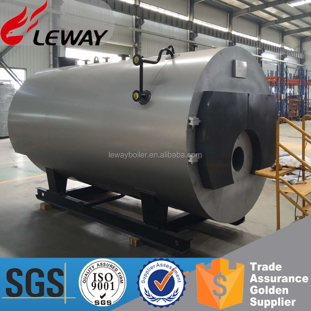 Corrugated Fire Tube 1Ton LNG LPG Natural Gas Fired Steam Boiler Price with Wet-Back Three-Passes