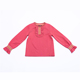 Modern design cute pink kids 9-12 girls handmade sweater with wrinkle details at sleeves and front