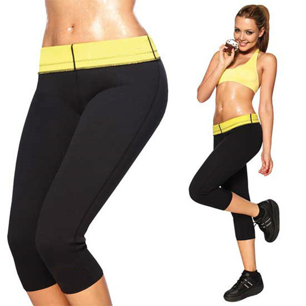 2015 hot shapers stretch neoprene Slimming Pants Thermo Shaper body leg slimming pants free shipping