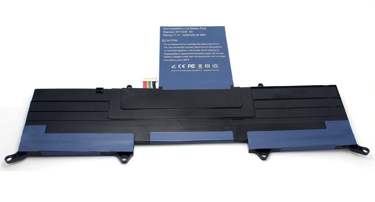 Egoway New Acer Aspire S3 Battery for Acer Aspire MS2346 S3-951 S3-391 Series, fits AP11D3F AP11D4F AP13J4K 3ICP5/65/88 3ICP5/67/90 [Li-Polymer 11.1V/3200mAh]
