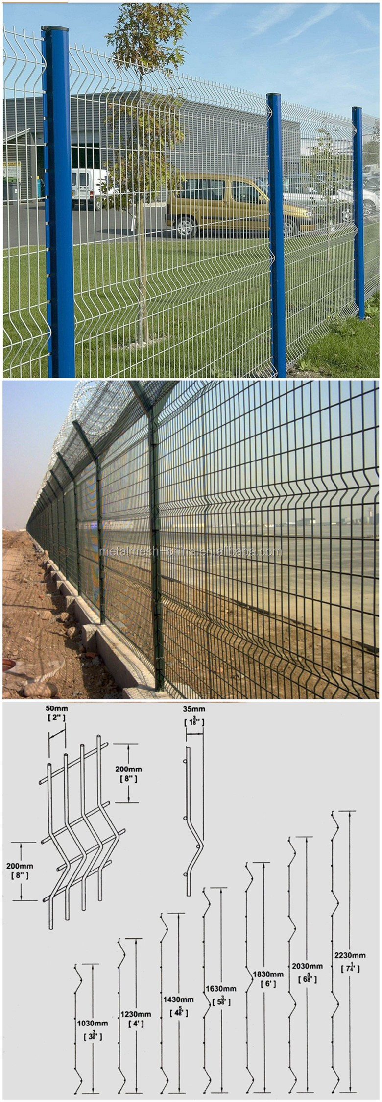 1/2-inch Welded Wire Mesh Fence/6ft Wire Mesh Fence/8x8 Fence Panels ...