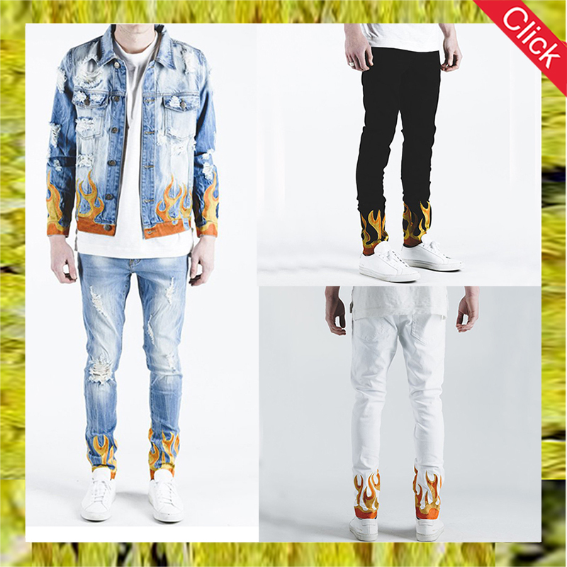 New fashion mens embroidery denim jeans on sale male distressed skinny jeans pants wholesale price,buy ripped jeans in bulk