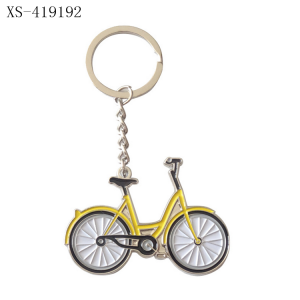 Wholesale Cheap Custom Metal Bike Keychain Bicycle Keychain